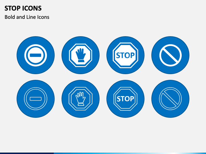 Stop Icons PPT Slide 1