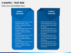 2 Shapes - Text Box PPT Slide 1
