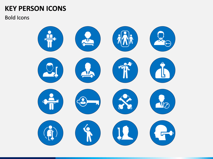 Key Person Icons PPT Slide 1
