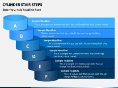 Cylinder Stair Steps PPT Slide 2