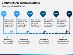 6 Month Plan With Milestones PPT Slide 3