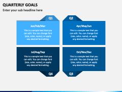 Quarterly Goals PPT Slide 3