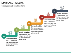 Stairs Timeline PPT Slide 5