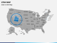 Utah Map PPT Slide 4