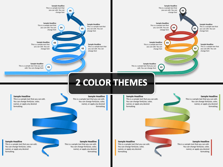 Spiral Arrow Infographics PPT Cover Slide