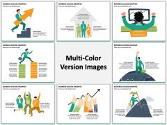 Business Success Graphics Multicolor Combined
