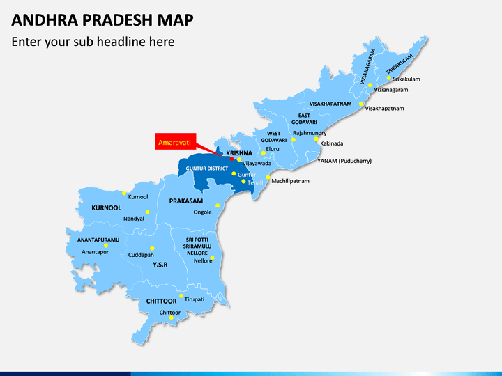 Andhra Pradesh Map PPT Slide 1