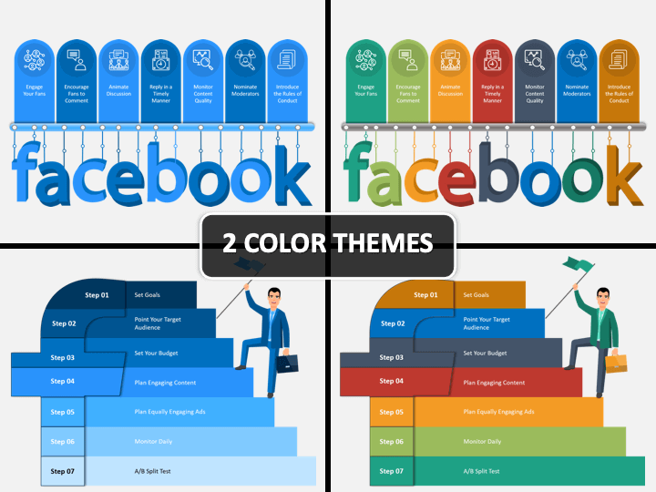 Facebook Marketing PPT Cover Slide