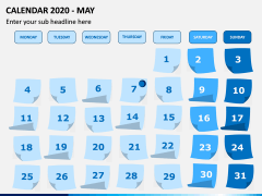 Calendar 2020 PPT Slide 5