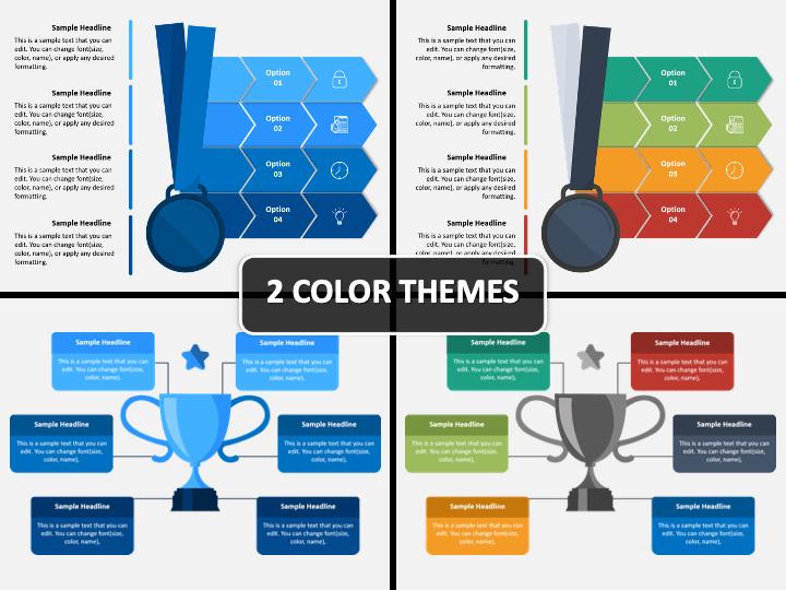 Award Infographic PPT Cover Slide