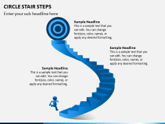 Circle Stair Steps PPT Slide 8