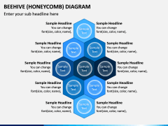 Beehive (Honeycomb) Diagram PPT Slide 1