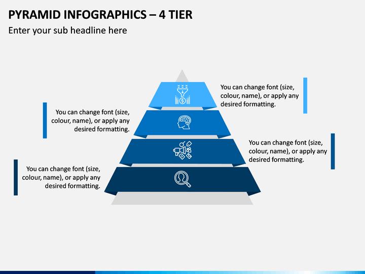 Pyramid Infographics – 4 Tier PPT Slide 1