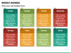 Weekly Agenda PPT Slide 4