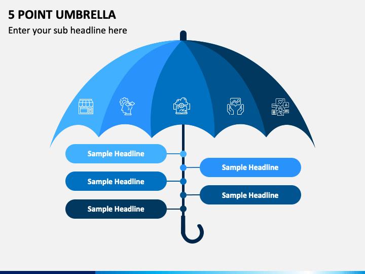 5 Point Umbrella PPT Slide 1