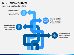 Interwined Arrow PPT Slide 5