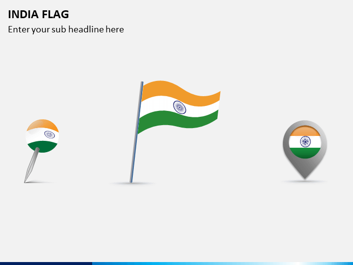India Flag PPT Slide