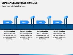 Challenges Hurdles Timeline PPT Slide 1