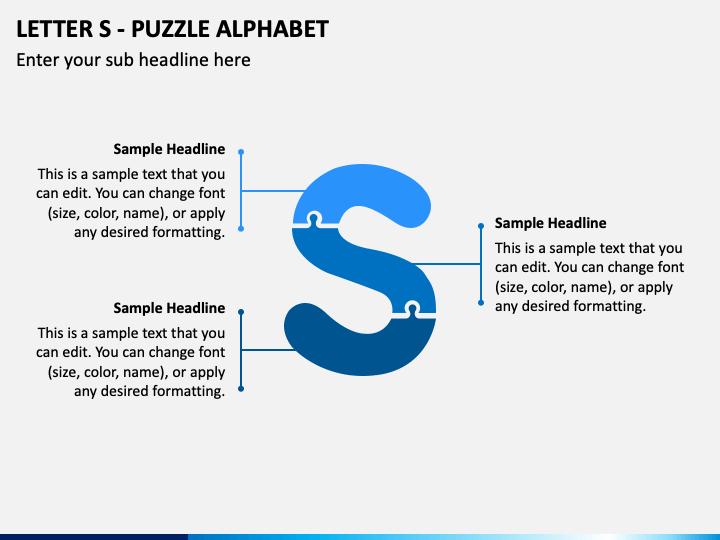 Letter S - Puzzle Alphabet PPT Slide 1