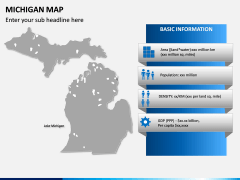 Michigan Map PPT Slide 4