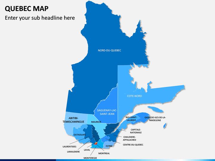 Quebec Map PPT Slide 1