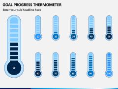 Goal Progress Thermometer PPT Slide 2
