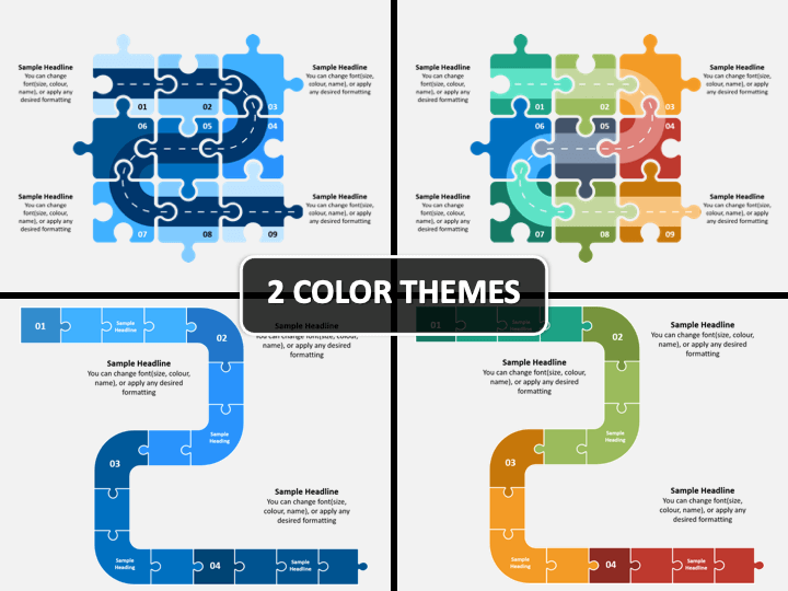 Roadmap Puzzle PPT Cover Slide