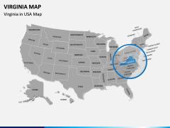 Virginia Map PPT Slide 5