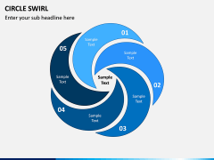 Circle Swirl PPT Slide 1