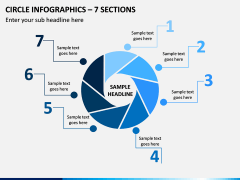 Circle Infographics – 7 Sections PPT Slide 1