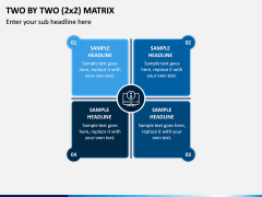 Two By Two (2x2) Matrix PPT Slide 3