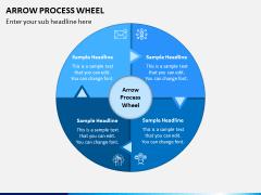 Arrow Process Wheel PPT Slide 7
