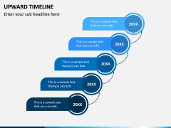 Upward Timeline PPT Slide 1