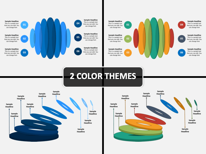 Oval Infographics PPT Cover Slide