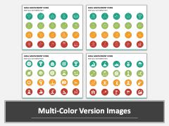 Goal Achievement Icons Multicolor Combined