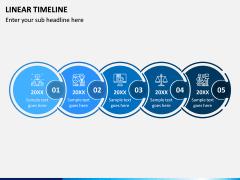 Linear Timeline PPT Slide 2