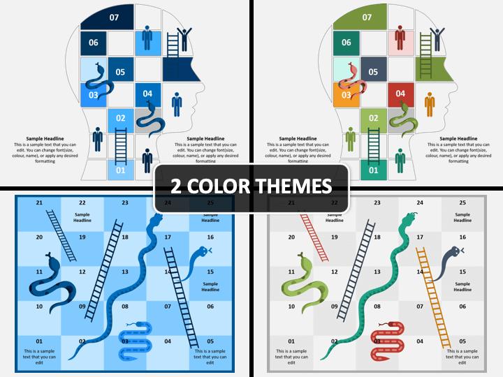 Snake and Ladder Infographics PPT Cover Slide
