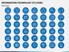 Information Technology (IT) Icons PPT Slide 3