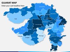 Gujarat Map PPT Slide 1