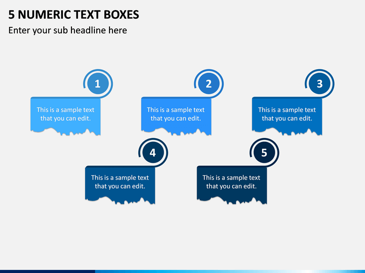 5 Numeric Text Boxes PPT Slide 1