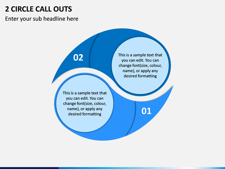 2 Circle Call Outs PPT Slide 1