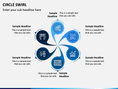 Circle Swirl PPT Slide 5