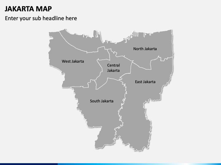 Jakarta Map PPT Slide 1