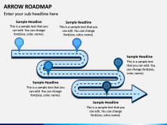 Arrow Roadmap PPT Slide 8