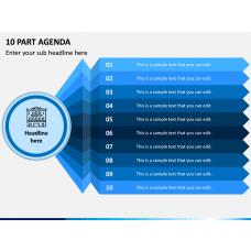 10 Part Agenda PPT Slide 1
