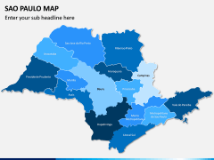 Sao Paulo Map PPT Slide 1
