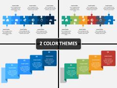 Horizontal List Infographics PPT Cover Slide