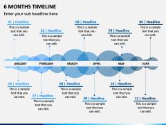 6 Months Timeline PPT Slide 1