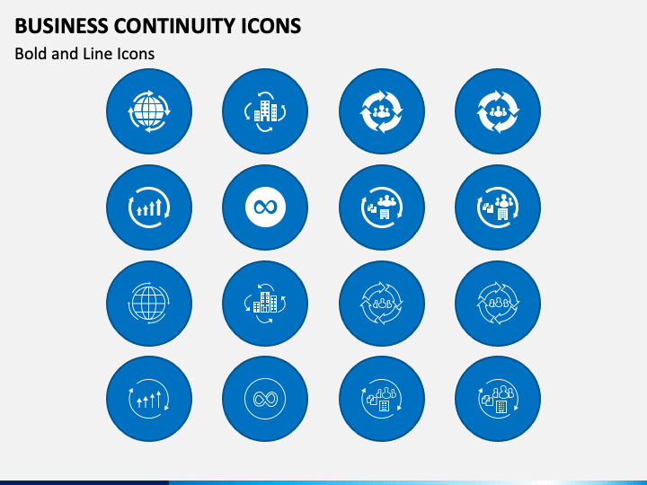 Business Continuity Icons PPT Slide 1