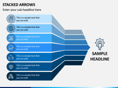 Stacked Arrows PPT Slide 1